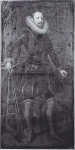 Portret van een ondekende man als ridder van het Gulden Vlies