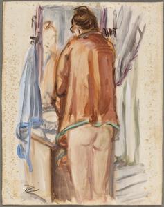 Amrey (Annemarie Balsiger) voor de spiegel