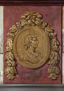 Medaillon met kop van een keizer
