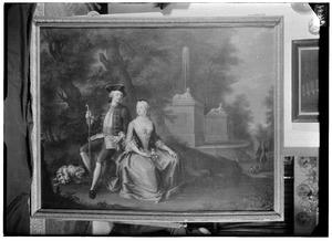 Dubbelportret van Johan van Foreest (1733-1766) en Agatha van Foreest (1733-1801)