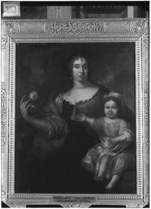 Dubbelportret van Maria van Berckel (1632-1706) en haar dochter
