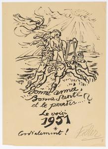 Nieuwjaarswens 1951