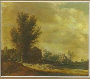 Landschap met hooiberg