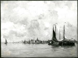Gezicht op Durgerdam vanaf het water