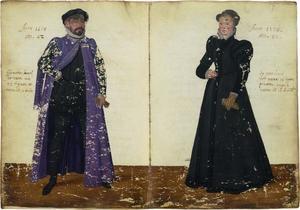 Dubbelportret van Emanuel van Meteren (1535-11612) en Hester van Corput (?-?)