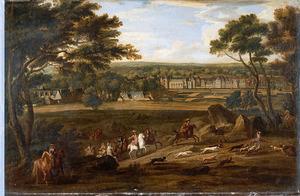 Koninklijke jacht in de bossen van Fontainebleau