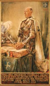 Portret van William Frederick Charles Henry graaf van Aldenburg Bentinck, heer van Gaildorf, Middachten en Kernheim