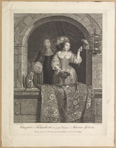 Dubbelportret van een echtpaar ten onrechte genaamd Caspar Netscher (1636-1684) en Margaretha Godin (....-1694)