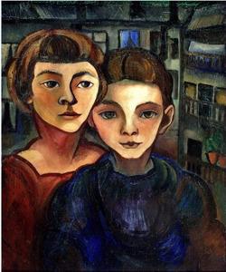 Zelfportret met Edgar Fernhout (1912-1974)
