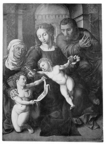 De H. Familie met de H. Elizabeth en Johannes de Doper