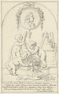 Allegorisch portret van Josephus Augustinus Brentano (1753-1821)