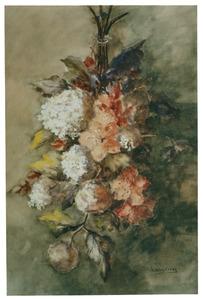 Stilleven met hortensia en amaryillis