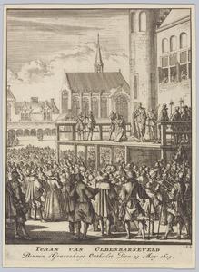 De onthoofding Johan van Oldenbarneveld te Den Haag op 13 mei 1619