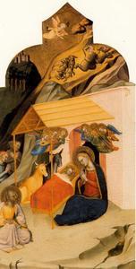 Christus' geboorte en de aanbidding van de herders