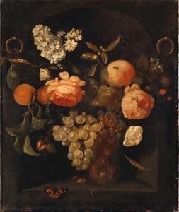 Slinger met bloemen en vruchten