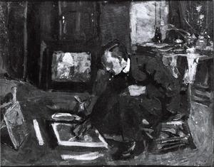 Portret van waarschijnlijk Hendrik Jan Wolter (1873-1952)