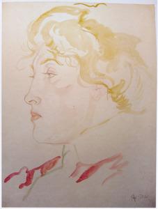 Vrouwenportret, en profil