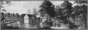 Landschap met de H. Theresia van Avila in extase en Johannes van het Kruis
