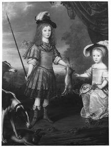 Dubbelportret van Karl Emil von Brandenburg (1655-1674) en Friedrich I van Pruisen (1657-1713)