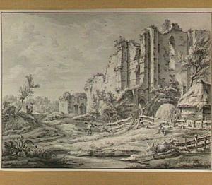Brederode, ruïnes van het kasteel uit het zuidoosten