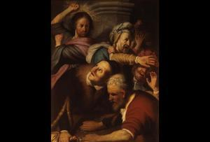 Christus verdrijft de wisselaars uit de tempel (Johannes 2: 13-17)