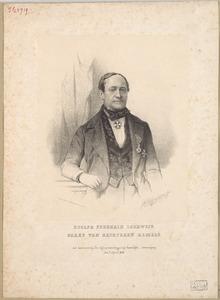 Portret van Adolph Frederik Lodewijk van Rechteren Limpurg (1793-1851)