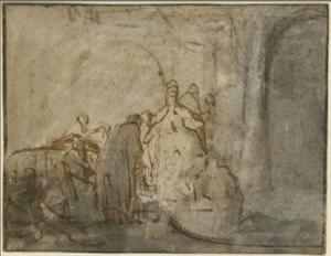 Judas brengt de zilverlingen terug