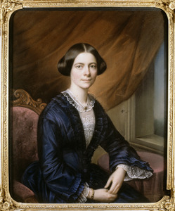 Portret van Anna Magdalena van Hangest d' Yvoy (1818-1877)