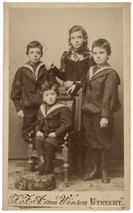 Portret van de kinderen Ortt