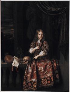 Portret van een onbekend jongen met vanitasstilleven