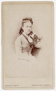 Portret van Wilhelmina Woutersen (1854-1924)