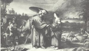 Rebekka en Eliëzer bij de bron (Genesis 24:17-18)