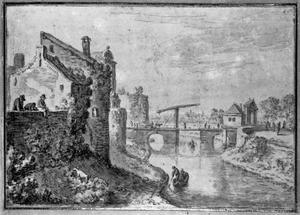 Stadswal van Utrecht ten noorden van de Catharijnepoort