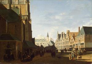 Haarlem, gezicht op de Grote Markt