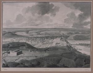 Gezicht op Namen tijdens het beleg door Willem III van Oranje, in 1695