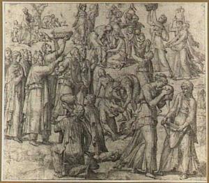 Inzameling van het manna (Exodus 16: 14 e.v.)