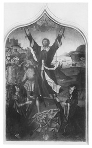 De kruisiging  van de H. Andreas met het stichterspaar Andreas della Costa en Agnes Adornes