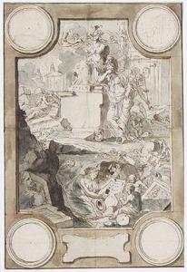 Allegorie op de teloorgang van de antieke beschaving