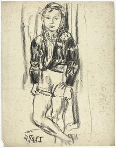 Portret van Sabine Fiedler, staand