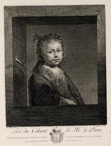 Portret van een jong meisje als herderin
