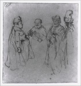 Figuurstudies, waaronder een schets van Willem Bartolsz. Ruyter (1584-1639)