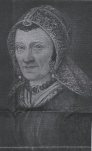 Portret van Tonia Theresia Vis (1818-1872)