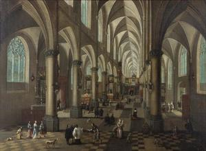 Interieur van de voormalige Sint-Walburgiskerk te Antwerpen
