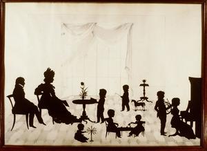 Portret van Willam Smith (1781-1853), Sara Geertruida van Hoey, en hun kinderen