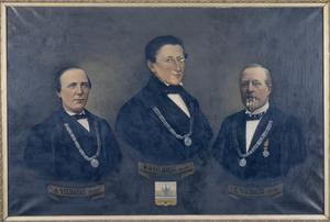 Portret van Norbertus Bernardus IJsebaert (1806-1877), Augustus IJsebaert (1840-1889) en Camillus IJsebaert (1856-?)