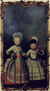 Portret van Isabella Boreel van Scheltinga (1775-1826) en Jetske Wiskia van Scheltinga (1777-1855)