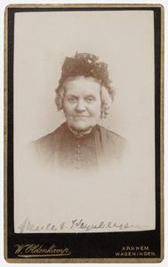 Portret van mw. Van Weynbergen
