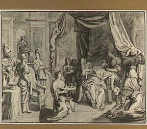 Sophonisba drinkt de gifbeker (Livius 30:15)