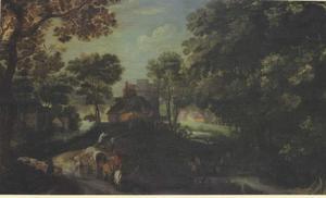 Landschap met een weg