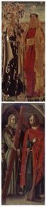 Twee apostelen: HH. Thaddeus en Paulus (?) (voorzijde); Twee apostelen: HH  Philippus en Jacobus (achterzijde)